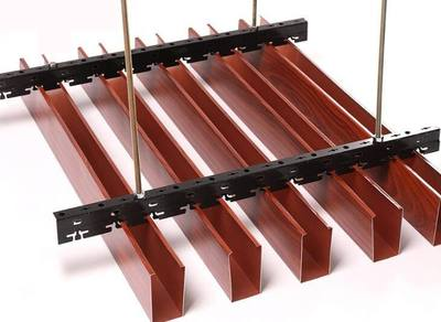 木纹U型铝方通怎么样安装3-11